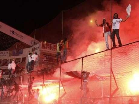 La hinchada de Liga de Quito.  Foto: Getty Images