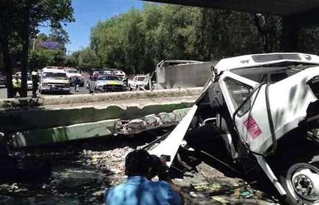 El Delegado en Azcapotzalco, Enrique Vargas, publicó en su cuenta de Twitter una foto del percance. Foto: Tomada de Twitter