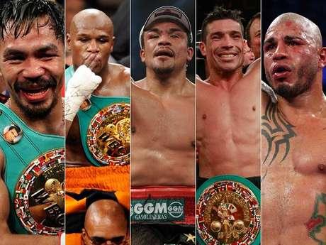 Pacquiao, Mayweather, Márquez, Martínez y Cotto, los mejores boxeadores de la actualidad. Foto: Fotomontaje Terra