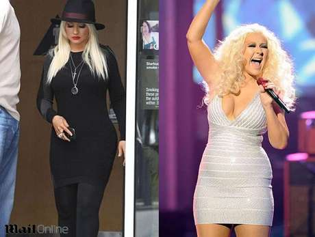 Parece que Christina Aguilera ha estado trabajando para volver a su figura original. Foto: Reproducción Daily Mail / Getty Images