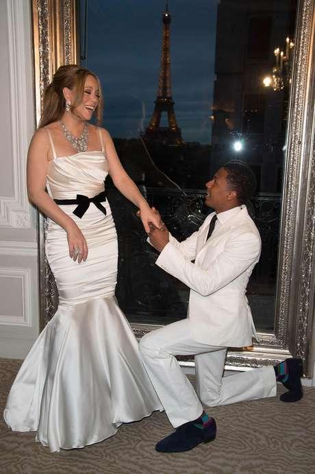 Mariah Carey y Nick Cannon renovaron votos en París Foto: Getty Images