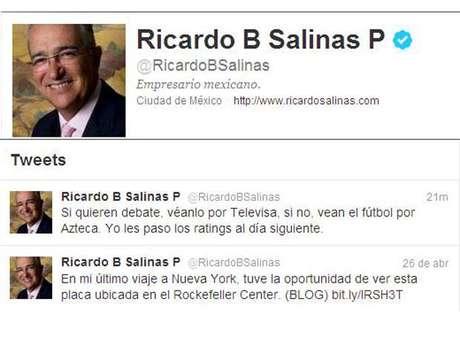 Mensaje de Ricardo Salinas Pliego Foto: Imagen tomada de Twitter