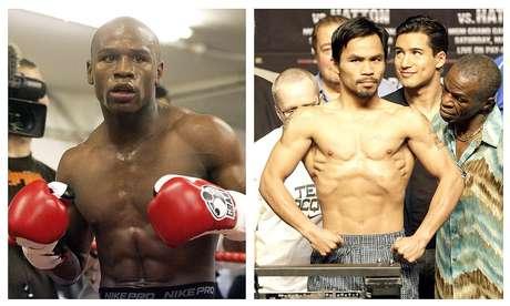 Floyd Mayweather Jr y Manny Pacquiao no quieren enfrentarse en un cuadrilátero Foto: Alastair Grant and Rick Bowmer / AP
