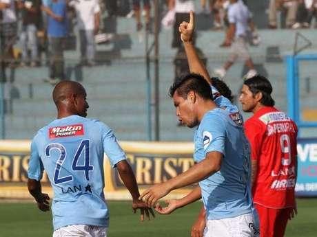 Rengifo marcó su octavo gol en el torneo. Foto: Miguel Ángel Bustamante / Terra Perú