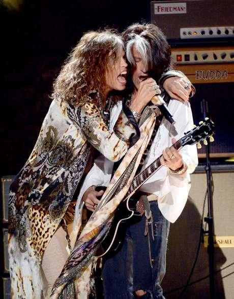 Steven Tyler junto a Joe Perry. Foto: Getty Images