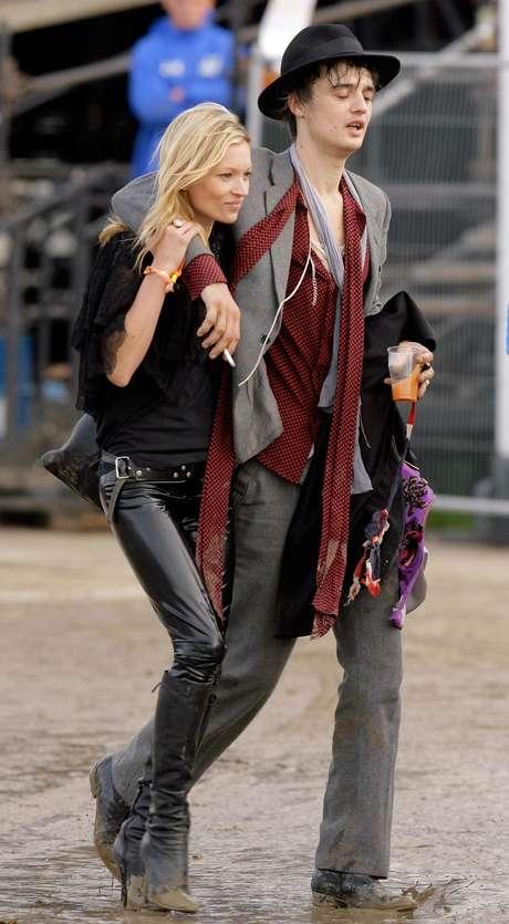 Pete Doherty y Kate Moss una relación confilctiva Foto: Getty Images