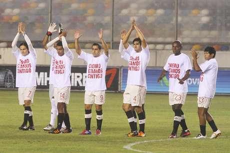 La 15° fecha lo protagonizaron los jugadores de la 'U' con la victoria 3-1 sobre Sport Huancayo en la despedida de José del Solar Foto: Miguel Bustamante / Terra Perú