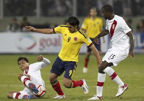 Colombia venció 1-0 a Perú en Lima. Foto: AP