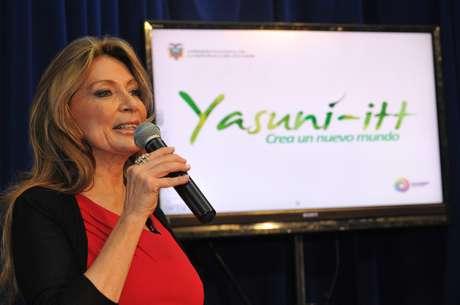 Ivonne Baki es la responsable del proyecto llamado  Yasuní-ITT. Foto: AFP