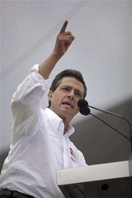 Enrique Peña Nieto, candidato presidencial del PRI. Foto: AP
