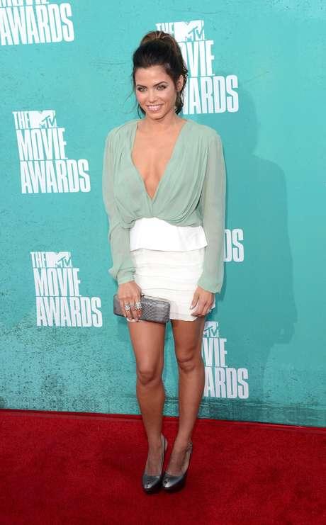 Jenna Dewan, es un ejemplo de que el color menta es muy elegante. Foto: Getty Images