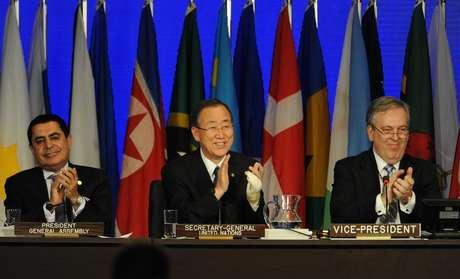En la plenaria, los gobernantes demostraron que solo coinciden en los puntos mínimos recogidos en la declaración. Foto: AFP