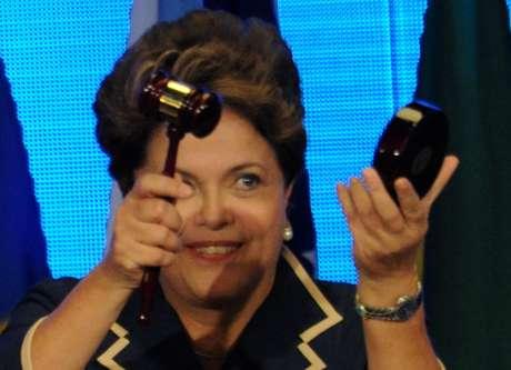 """La presidenta brasileña Dilma Rousseff concluyó la Conferencia con un plan titulado """"El futuro que queremos"""". Foto: AFP"""