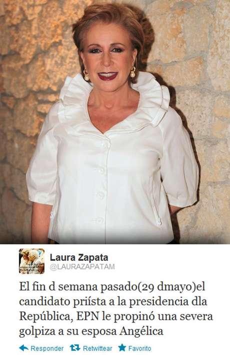 La actriz sostiene que Televisa envió un regalo especial a Rivera para que regresara con Nieto. Foto: MezcalEnt / Twitter