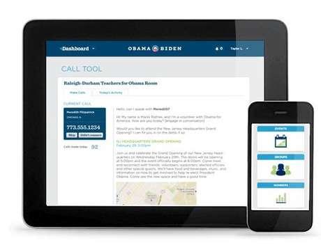 La portada de Dashboard, la red social para voluntarios demócratas. Foto: REPRODUCCION