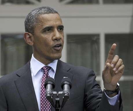 El presidente Barack Obama en una foto de archivo del 15 de junio del 2012, habla en el jardin de la Casa Blanca en Washington. Obama celebrará el miércoles 4 de julio del 2012 en la Casa Blanca el 236º aniversario de la fundación del país.  Foto: Susan Walsh, Archivo / AP