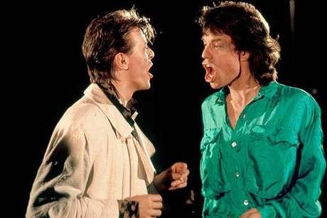 David Bowie y Mick Jagger. Foto: Mirror.uk