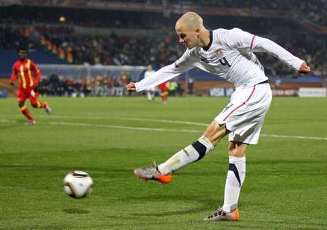 Michael Bradley of the United States in action during the 2010 FIFA World Cup South Africa Round of Sixteen match between USA and Ghana at Royal Bafokeng Stadium on June 26, 2010 in Rustenburg, South Africa. Foto: Getty Images