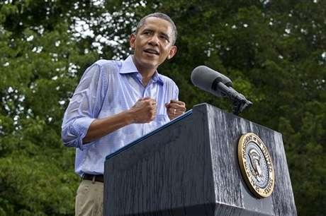Obama durante su discurso de este sábado en Virginia. Foto: AP