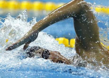 Ranomi Kromowidjojo of the Netherlands competes in the women's 100m freestyle heats at the 14th FINA World Championships in Shanghai July 28, 2011. Foto: David Gray / Reuters In English
