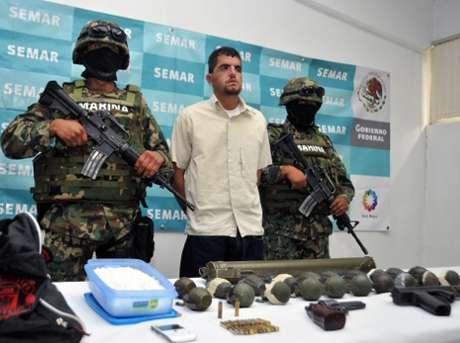 La detención del capo ocurrió en un hotel del municipio de Huejotzingo, Puebla. Foto: Cortesía Semar. / Terra
