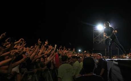 Foo Fighters cerró la versión 2012 de Lollapalooza en Santiago Foto: Agencia UNO