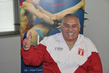 Atleta Pompilio Falconí es el único peruano en Londres. Foto: Cortesía Embajada Británica en el Perú