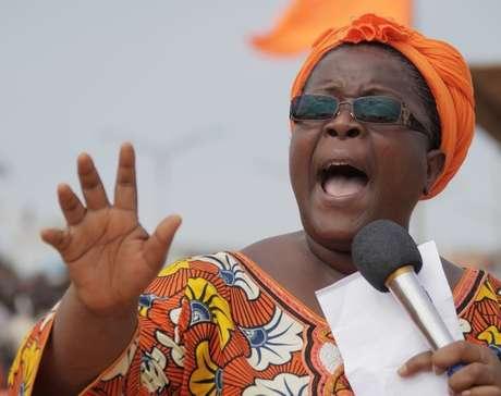 Isabelle Ameganvi, la opositora que llama a esta huelga de sexo Foto: AP