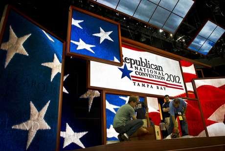 Todo está listo en Tampa para el inicio, mañana, de la Convención Republicana. Foto: Getty Images