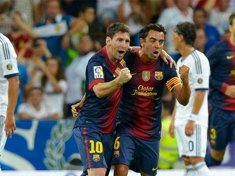 Messi y Xavi celebran un gol Foto: Getty Images