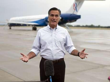 Romney ofreció una conferencia de prensa en Sergeant Bluff, Iowa. Foto: AP