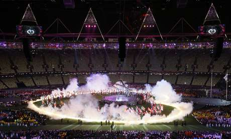 A general view of the closing ceremony for the 2012 Paralympics games, Sunday, Sept. 9, 2012, in London. Foto: AP in English