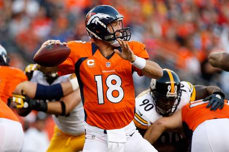 Peyton Manning has not completed a pass of more than twenty yards.  Foto: Getty