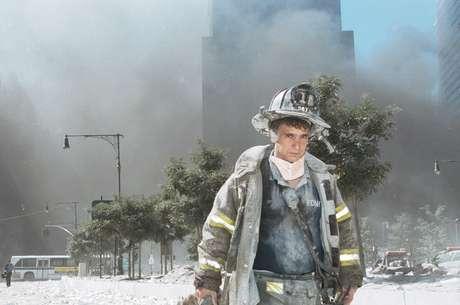 Uno de los miles de bomberos que asistieron en las tareas de rescate aquel 11 de septiembre. Foto: Getty Images