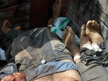 Los 16 cadáveres, todos de hombres, presentaban disparos de diferentes calibres y aún no han sido identificados. Foto: EFE en español