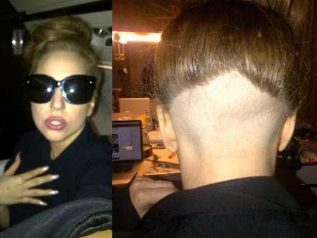Lady Gaga se rapa la cabeza por un amigo. Foto: Página lady Gaga Little Monster