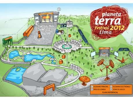 Así lucirá el Parque de la Exposición el sábado 13 de octubre, durante el Planeta Terra Festival Lima. Foto: Terra Perú
