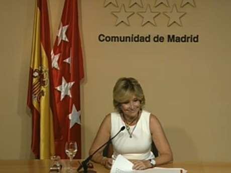La presidenta ha comunicado su decisión al presidente del Gobierno, Mariano Rajoy, este lunes. Foto: Esperanza Aguirre