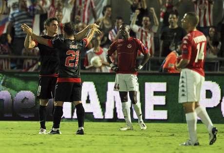 El Atlético goleó al club de Tel Aviv por 3-0 Foto: EFE