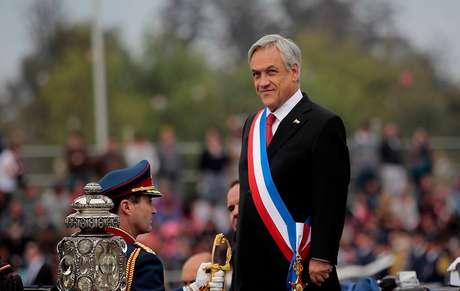 Imagen del Presidente Sebastián Piñera durante la Parada Militar Foto: Agencia Uno