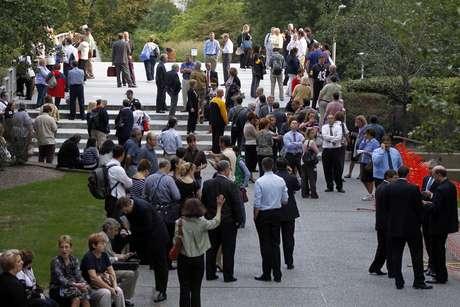 Cientos de personas fueron evacuadas del edificio en pleno centro de Pittsburgh, Pennsylvania. Foto: AP