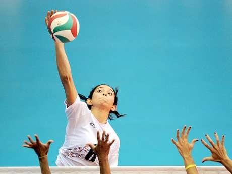 Samantha Bricio, voleibolista mexicana de la Universidad del Sur de California Foto: Daniel Ochoa de Olza / AP