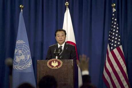 Japan's Prime Minister Yoshihiko Noda addresses a news conference in New York September 26, 2012. Japan has sovereignty over the islands at the heart of a dispute with China and therefore will not compromise on ownership, Noda said on Wednesday. Foto: Andrew Burton / Reuters In English