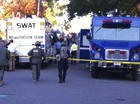 La escena del tiroteo en Minneapolis.  Foto: AP