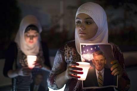 Vigilia realizada el 13 de septiembre en Nueva York en memoria del embajador Chris Stevens. Foto: AP