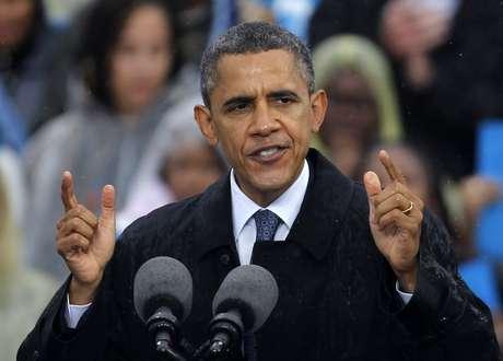 El presidente Barack Obama habla en un acto de campaña en la Universidad Estatal de Cleveland, el viernes 5 de octubre de 2012, en Cleveland. Foto: AP