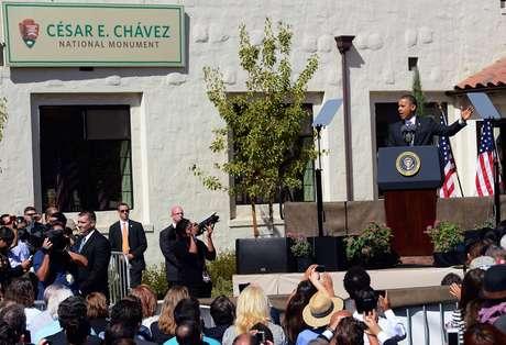 """Una propiedad ubicada en Keene conocida como """"La Paz"""" se convirtió este lunes por decreto presidencial en el """"Monumento Nacional César Chávez"""".  Foto: Getty Images"""