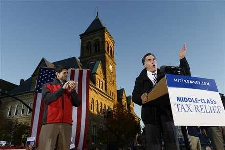 Romney en un acto de  campaña en Ohio. Foto: AP