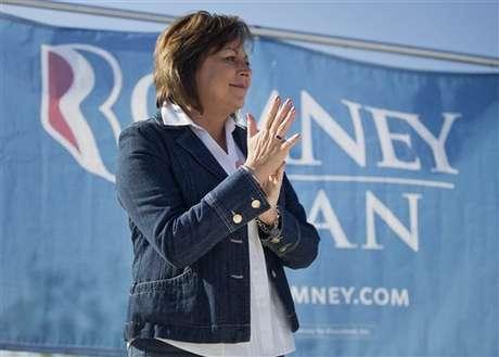 Susana Martínez durante el acto de campaña de este sábado de Romney en Las Vegas. Foto: AP