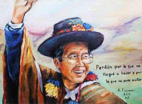 Retrato de Fujimori Foto: @carlosraffo